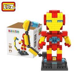 LOZ小粒积木-漫威钢铁侠美队绿巨人雷神洛基独眼龙
