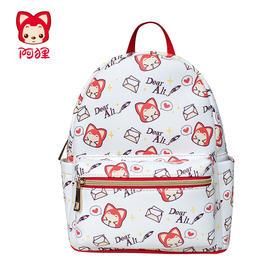 阿狸情书mini系列双肩包卡通可爱女士红色背包日系韩版淑女包包