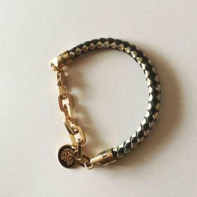 赠品|Rastaclat 黑金牛皮手环