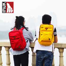【爱心箱送】加拿大INUK学院风双肩休闲背包男女原色系列