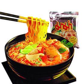 泰国妈妈牌泰式清汤鲜虾酸辣面 经典速食煮面泡面 55g/包*5