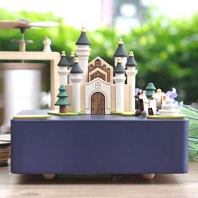 【台湾】Wooderful life 城堡马车新 原木音乐盒