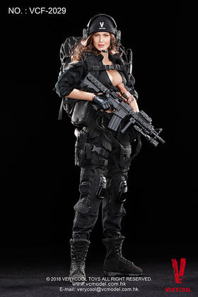 VERYCOOL :1/6 黑色女射击手(VCF-2029)(售完展示)