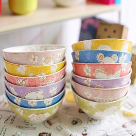 【美货】卡通工房碗12十二生肖釉下彩创意陶瓷碗米饭碗
