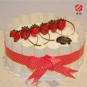【清凉一夏】冰清玉洁~冰淇淋夹心草莓蛋糕