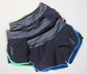 健身跑步训练速干双层运动短裤女防走光