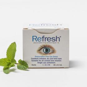 Refresh 滴眼液30支独立包装眼药水 缓解干眼症 视疲劳 眼疲劳 隐形眼镜不适