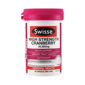 澳大利亚Swisse瑞思蔓越莓胶囊30粒/瓶 呵护女性健康保养卵巢