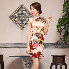 苏州艳丽牡丹旗袍