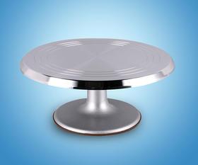 蛋糕裱花转台 铝合金转盘防滑裱花台