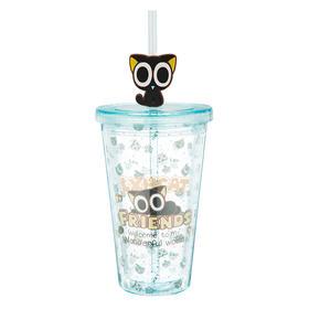 罗小黑 卡通吸管杯便携喝水杯