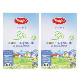 德国Topfer特福芬有机婴幼儿奶粉1+段(36个月以上)500g/盒*2
