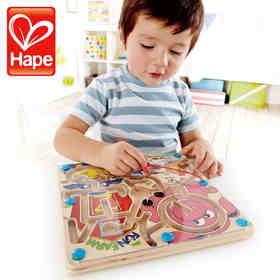 德国Hape快乐农场磁性迷宫 2周岁幼儿童益智玩具礼物 男女宝宝