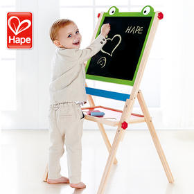 德国Hape儿童双面大画架 双面画板 宝宝写字板实木益智玩具可翻转