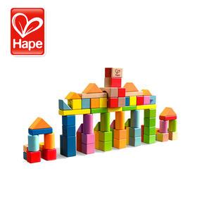 德国Hape 80粒积木 儿童积木玩具益智木制1-2岁婴儿宝宝男孩女孩