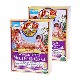 美国Earth's Best世界最好3段高铁婴儿全谷物米粉(9个月以上)227g/盒*2