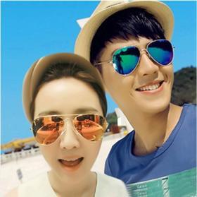 新款潮人复古防紫外线太阳眼镜  包邮