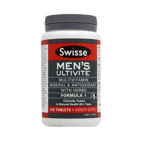 澳大利亚Swisse男士复合维生素120粒/瓶 平衡身体营养缓解疲劳