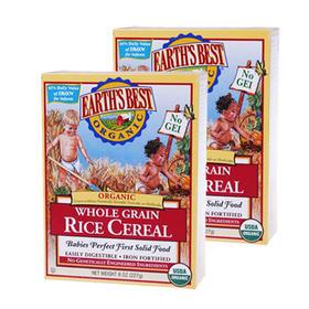 美国Earth's Best世界最好1段高铁婴儿大米米粉(4个月以上)227g/盒*2