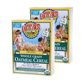 美国 Earth's Best世界最好2段有机高铁燕麦米粉(6个月以上) 227g/盒*2