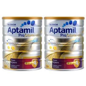 新西兰Aptamil爱他美白金版婴幼儿配方奶粉4段(2岁以上)900g/罐*2