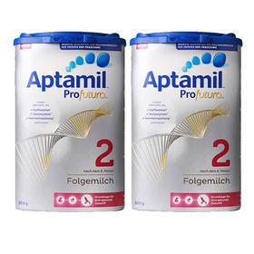 德国Aptamil爱他美婴幼儿奶粉白金版2段(6-10个月)800g/罐*2