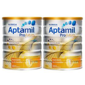 新西兰Aptamil爱他美白金版婴幼儿配方奶粉1段(0-6个月)900g/罐*2