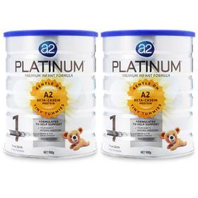 澳洲A2白金版婴儿奶粉1段(0-6个月)900g/罐*2 Platinum