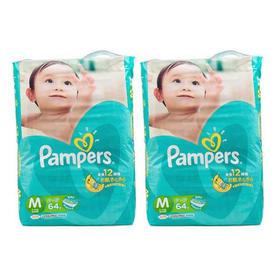 日本Pampers帮宝适纸尿裤M64片/包*2(6kg-11kg)
