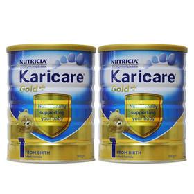 新西兰Karicare可瑞康婴儿奶粉金装1段(0-6个月) 900g/罐*2