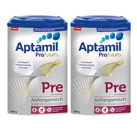 德国Aptamil爱他美婴幼儿奶粉白金版pre段(0-6个月)800g/罐*2