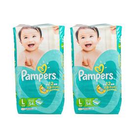 日本Pampers帮宝适纸尿裤L54片/包*2(9kg-14kg)