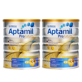 新西兰Aptamil爱他美白金版婴幼儿配方奶粉3段(1-2岁) 900g/罐*2