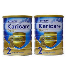 新西兰Karicare可瑞康婴儿奶粉金装2段(6-12个月) 900g/罐*2
