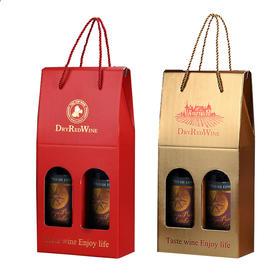 西班牙进口木头港干红葡萄酒两瓶礼盒装