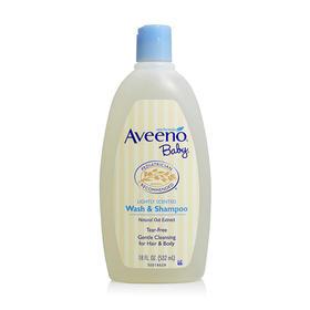 美国Aveeno Baby艾维诺宝宝天然燕麦洗发沐浴液二合一532ml/瓶