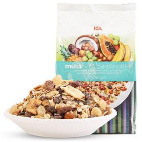 瑞典进口ICA50%水果坚果燕麦片750g 即食免煮早餐低脂营养速食