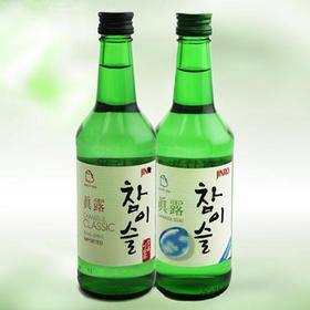 韩国真露烧酒17.8度360ml*2瓶 蒸馏清酒