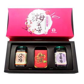 台湾直邮甲仙农会梅宴芳礼盒1350g 梅精+紫苏梅+Q梅