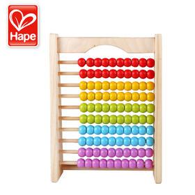 德国Hape炫彩珠算架 幼儿童益智玩具 幼儿园早教教具计算架算数架