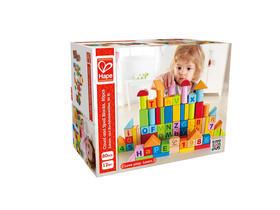 德国hape80粒积木 木制大块环保 1-2岁儿童玩具积木 益智环保早教