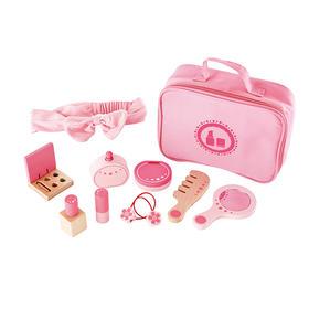 德国Hape梳妆包 2岁女孩女童过家家玩具3岁女宝宝化妆包生日礼物