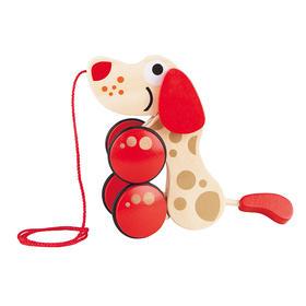 德国Hape拖拉狗纪念版 1-2周岁宝宝益智玩具 婴儿童早教男孩女孩
