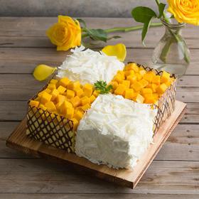 【苏州】幸福西饼榴芒双拼蛋糕2磅138元/3磅168元/4磅198元,下单请留言注明配送日期。