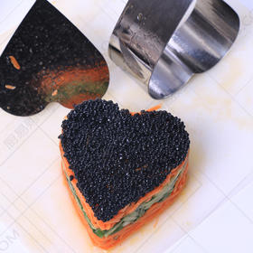 心形塑形模具 不锈钢塑形模具 融合菜 凉菜塑形模具