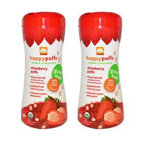 美国禧贝有机草莓泡芙磨牙圈(9个月以上)60g/盒*2