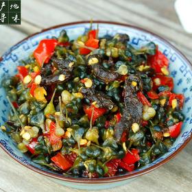 【产地寻味】阿表哥韭菜花腌干巴菌450g 泡椒小菜下饭菜云南酱菜咸菜