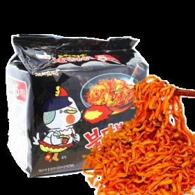 韩国三养超辣火鸡面140g*5包  天天向上同款鸡肉味炒面品牌方便面组合超辣经典速食煮面拌面