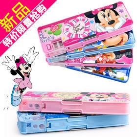 (文具盒)迪士尼铅笔盒笔袋小学生韩国创意多功能儿童文具盒男女孩学习用品