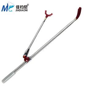 佳钓尼 2.1米不锈钢可伸缩钓椅 钓箱钓台支架鱼竿渔竿炮台竿架